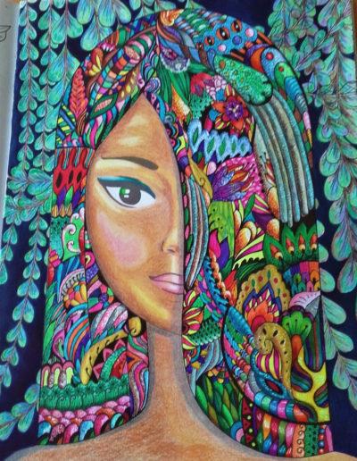 NYMPHEAS, Huile sur toile de lin, (61x46 cm